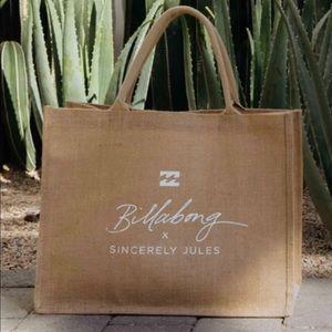 *Sincerely Jules x Billabong Tote Bag* NWT!